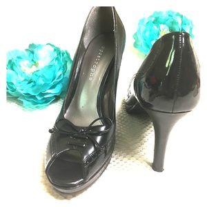 Apostrophe black High Hill shoes, Size 81/2